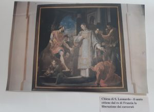 Chiesa di San Leonardo - il santo ottiene dal re di Francia la liberazione dei carcerati