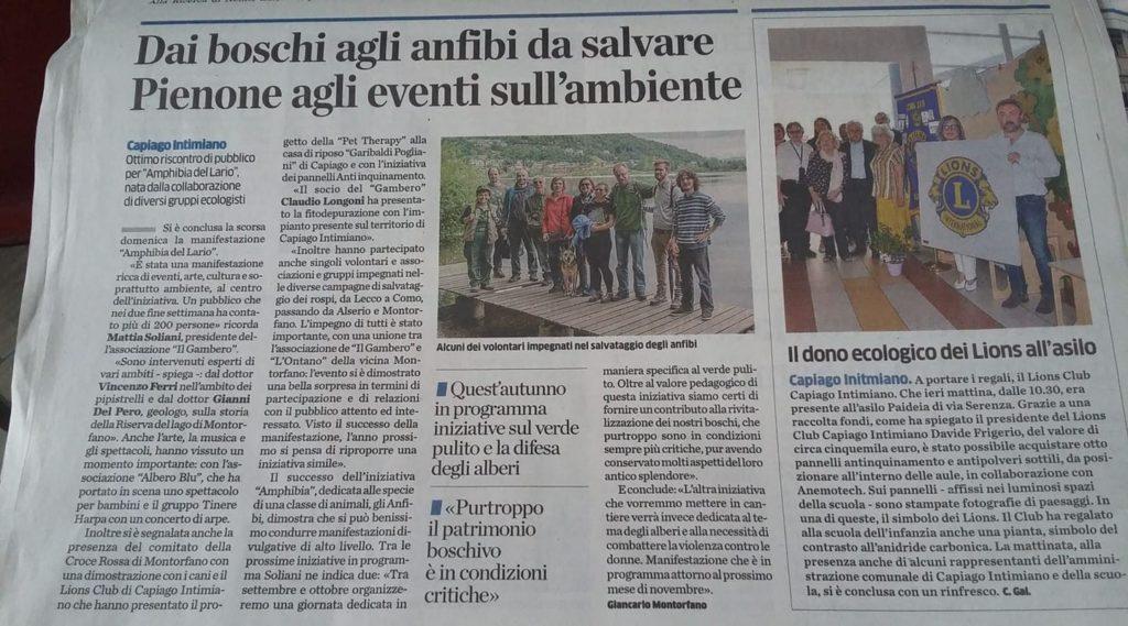 Amphibia del Lario, giornale
