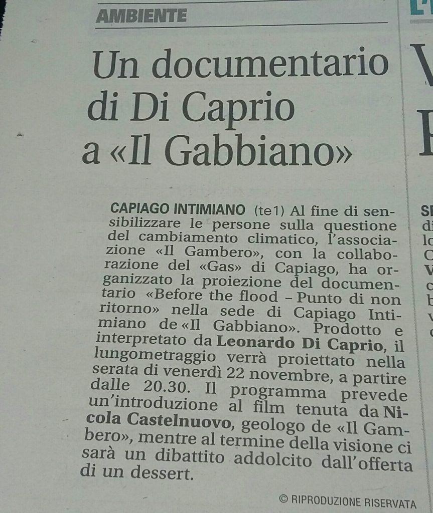 Un documentario al Gabbiano